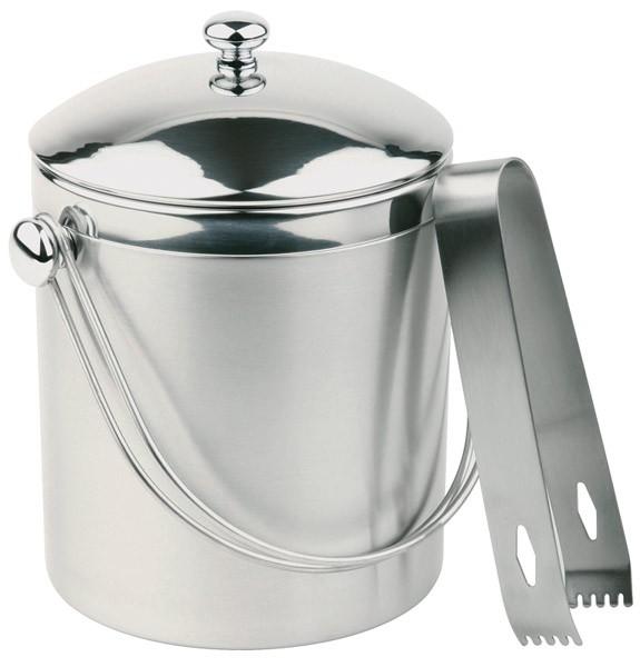 Eiseimer-Set mit Eiszange Ø 12 cm, H: 14 cm, 1 Liter