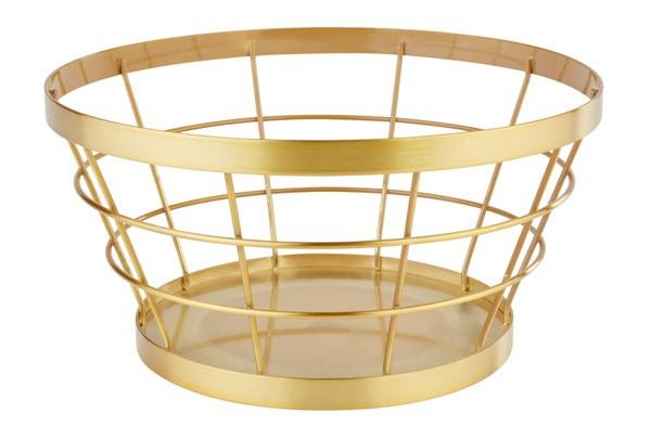 """Buffetkorb, Buffetständer, Serie """"Basket"""", gold, konisch, 21/15 cm Ø, 11 cm Höhe"""