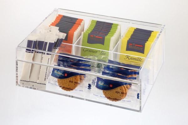 Teebox / Multibox 22 x 17 cm, H: 9 cm