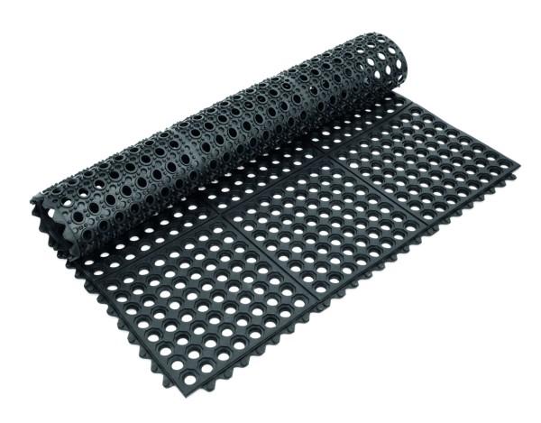 Fußbodenmatte-System aus Gummi, mit Klick-System | Abm.: 91,5 x 91,5 x 1,2 cm
