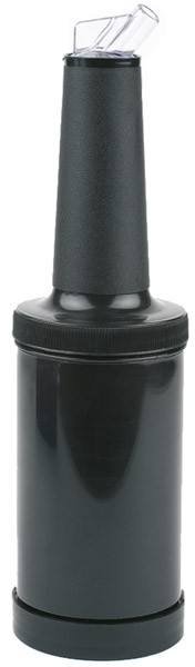 Dosier-/Vorratsflasche schwarz Ø 9 cm, H: 33 cm, 0,85 Liter