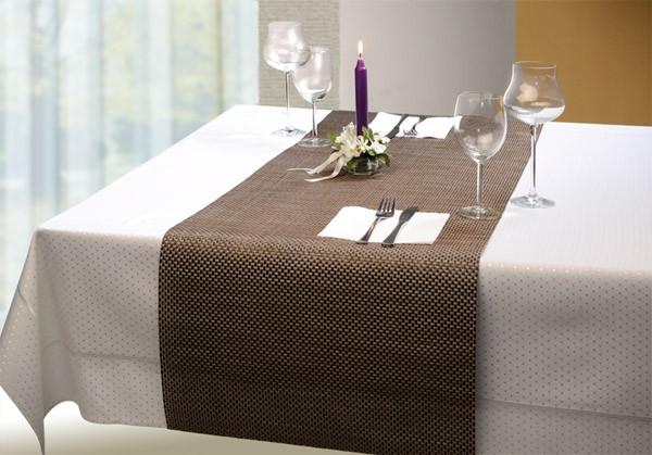 Tischläufer - silbergrau 45 x 150 cm