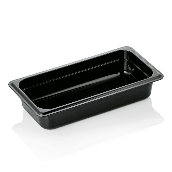 GN Behälter 1/3-065 mm, schwarz, Polycarbonat