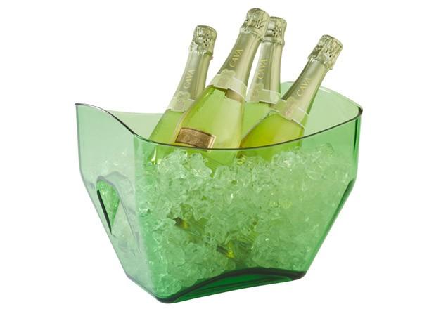 Weinkühler, Sektküher, Eiswürfelbehälter grün