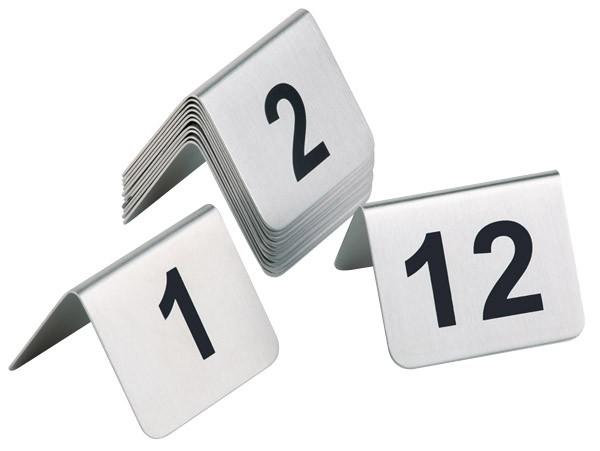 Tischnummernschild 1-12