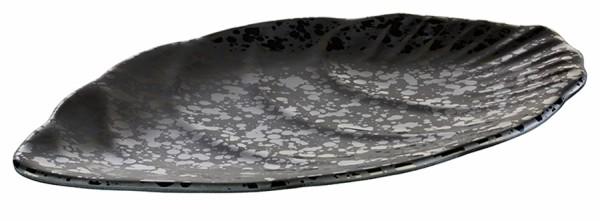 """Tablett """"GLAMOUR"""", Blattform, aus Melamin , schwarz / 25x15,5 oder 30,5x19 cm"""