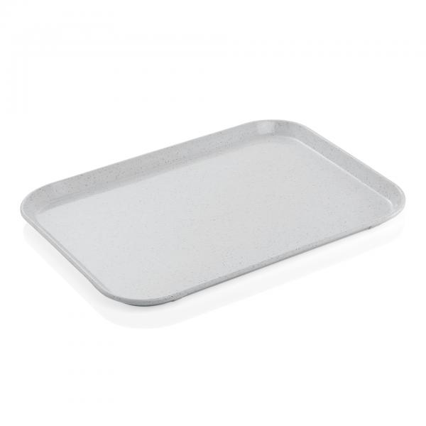 Tablett, 45,5 x 35,5 cm, hellgrau, Polyester