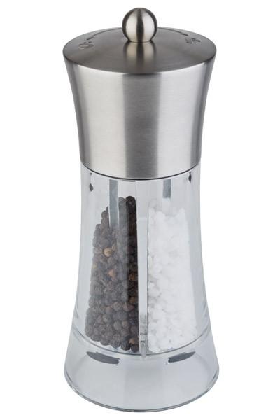 2 in 1 Salz u. Pfeffermühle Ø 7,5 cm, H: 18,5 cm