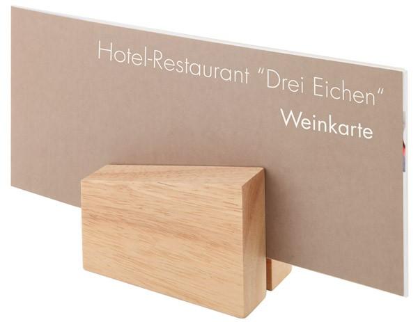 Kartenhalter, 2er Set 8,5 x 6 cm, H: 4,5 / 8,5 cm