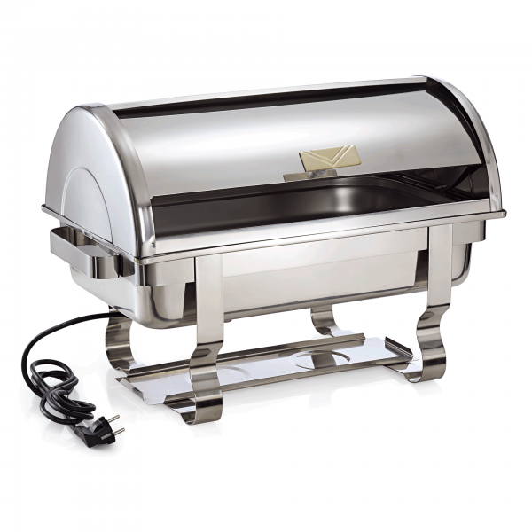 Elektro Chafing Dish GN 1/1 mit Roll Top Deckel,