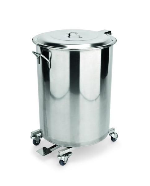 Abfallbehälter aus CNS - mit Fußpedal
