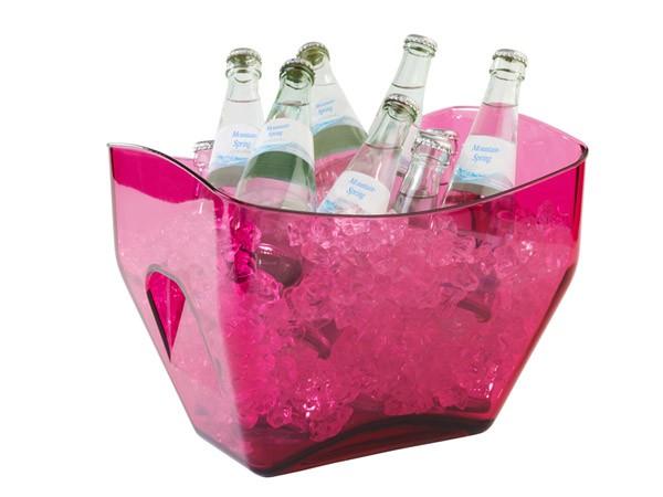 Eiswürfelbehälter, Weinkühler, Sektkühler, pink