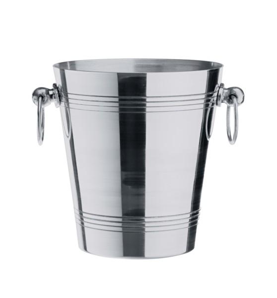 Flaschenkühler, Sektkühler, Aluminium, 18,5 cm Ø, 20 cm Höhe und 3,7 Liter Inhalt