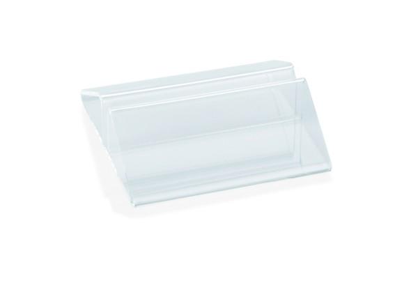Kartenhalter aus Acryl | Abm.: 7 x 7 x 2 cm
