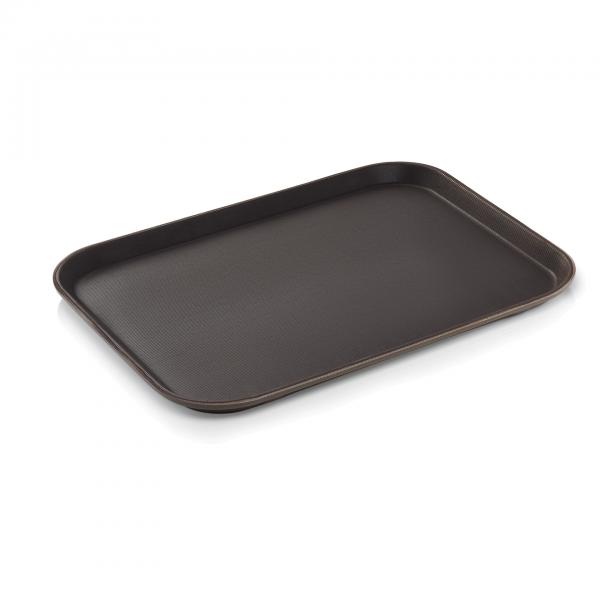 Tablett, 46 x 36 cm, braun, Polypropylen