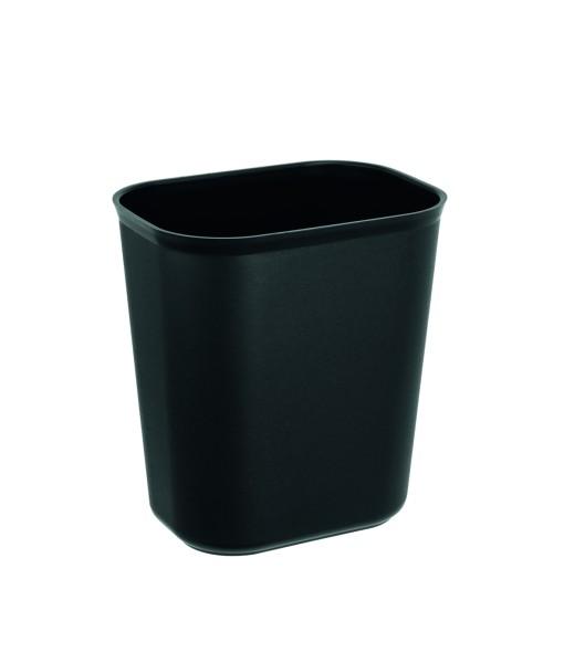 Papierkorb in schwarz aus Polypropylen - XTRA PREISWERT