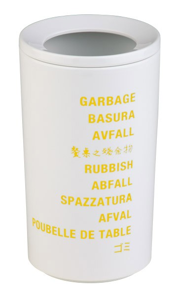 Tischrestebehälter Ø 10 cm, H: 17,5 cm