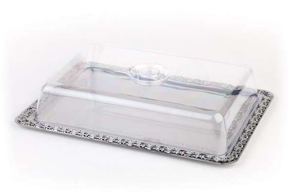 Tablett mit Haube 42 x 31 cm