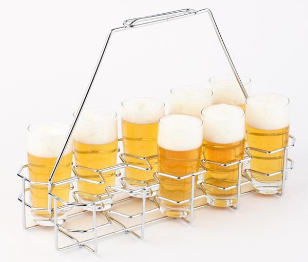 Bierglasträger 40 x 16,5 cm, H: 29 cm