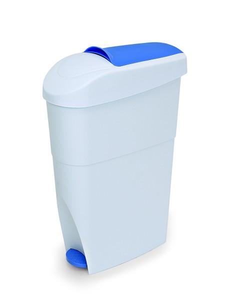 Sanitär-/Treteimer aus Polypropylen, in blau/weiß / Abm.: 35 x 18 x 33 cm