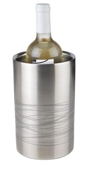 Flaschenkühler -LINES- außen Ø 12 cm, H: 20 cm