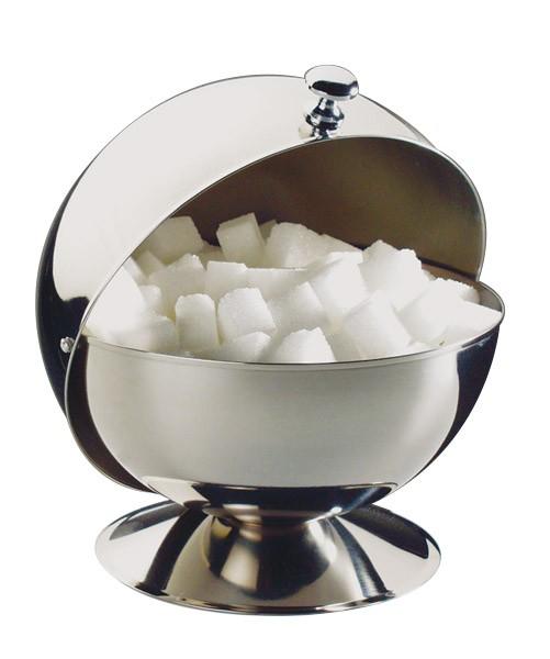 Zuckerkugel mit Rolldeckel Ø 13,5 cm, H: 15 cm