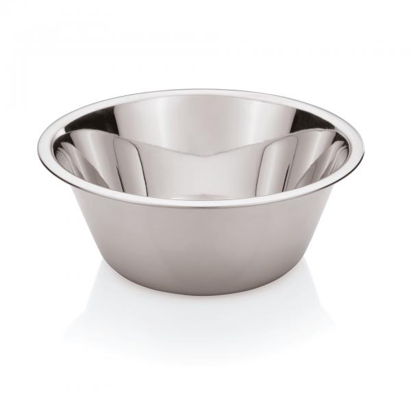 Küchenschüssel, CNS, Konisch, 0,4 - 21,5 Liter wählbar, Rand bordiert