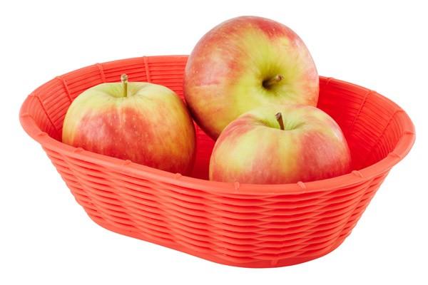 Brot- und Obstkorb 23 x 17 cm, H: 6,5 cm, oval