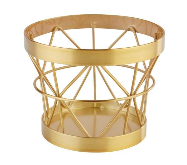 """Buffetkorb, Buffetständer, Serie """"Basket"""", gold, konisch, 10,5/8 cm Ø, 8 cm Höhe"""