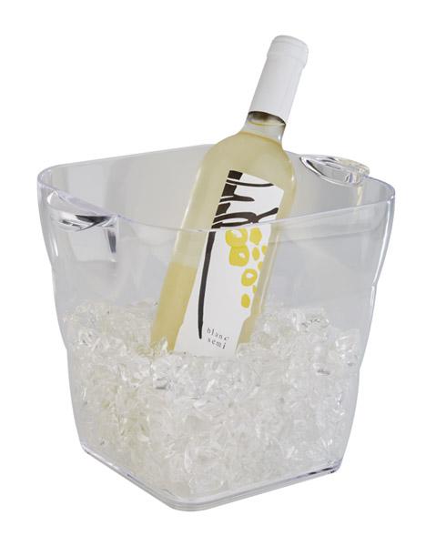 Kunststoff FLASCHENKÜHLER mit Griff Weinkühler Sektkühler EISWÜRFELBEHÄLTER
