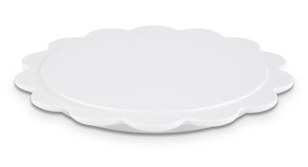 """Melamin Tablett, Serie """"Bakery"""", gerundete Ecken, rund, Weiss Durchmesser wählbar"""