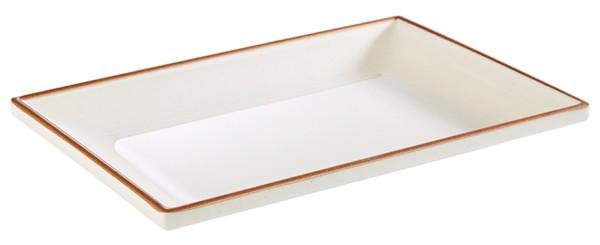 "Tablett ""LAGOON"" aus Melamin / 21,5 x 14,5 oder 24,5 x 16,5 cm"