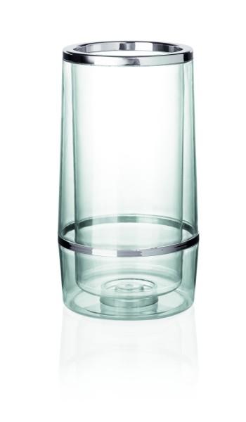 Flaschenkühler, SAN Kunststoff, doppelwandig, 11,5 cm Ø und 23 cm Höhe