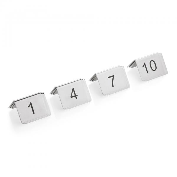 Tischnummernschild Set, 12-teilig, 1-12