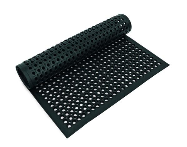 Fußbodenmatte, 152,5 x 91,5 x 1,2 cm, schwarz,