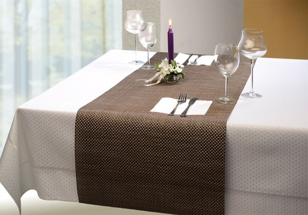 Tischläufer - candyrot 45 x 150 cm