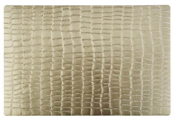 Tischset - gold -CROCO- 45 x 30 cm