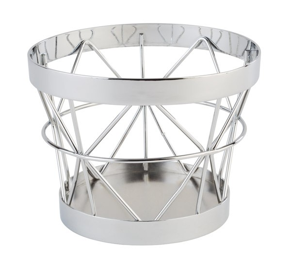 """Buffetkorb, Buffetständer, Serie """"Basket"""", silber, konisch, 10,5/8 cm Ø, 8 cm Höhe"""