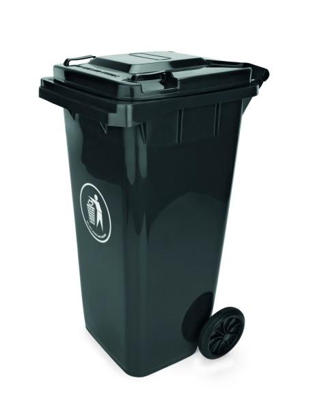 Abfalltonne in schwarz, rot, blau oder grün - Inhalt: 120 ltr., Höhe: 95 cm