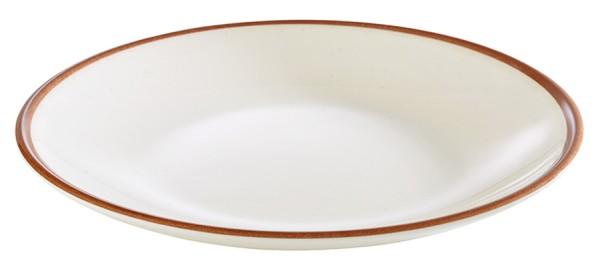 """Teller """"LAGOON"""" aus Melamin, flach, 2 Größen / Ø 20 oder 22 cm"""