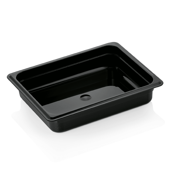 GN Behälter 1/2-065 mm, schwarz, Polycarbonat