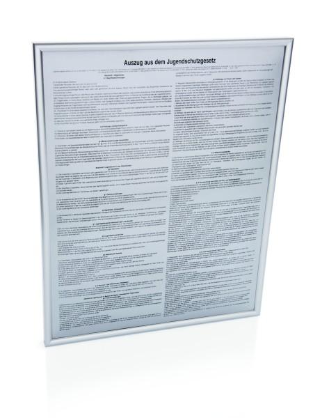 Hinweisschild aus Kunststoff in Aluoptik in mehreren Ausführungen