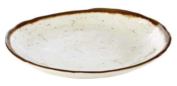 """Teller """"STONE ART"""" aus Melamin, stapelbar / Ø 24,5 cm"""