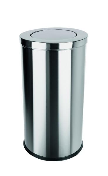Abfalleimer aus CNS - mit Schwingdeckel und herausnehmbarem Einsatz
