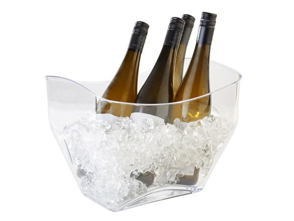 Eiswürfelbehälter, Weinkühler, Sektkühler, weiß
