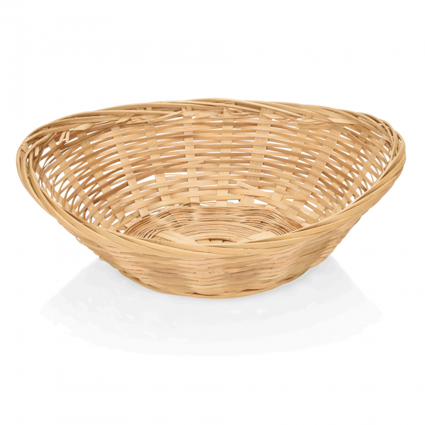 Brotkorb, 20 x 15,5 x 5 cm, oval, Bambus