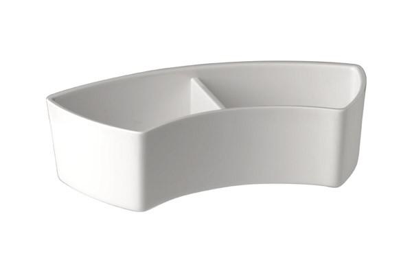 Schale, 2-geteilt 17,5 x 7,5 cm, H: 4,5 cm