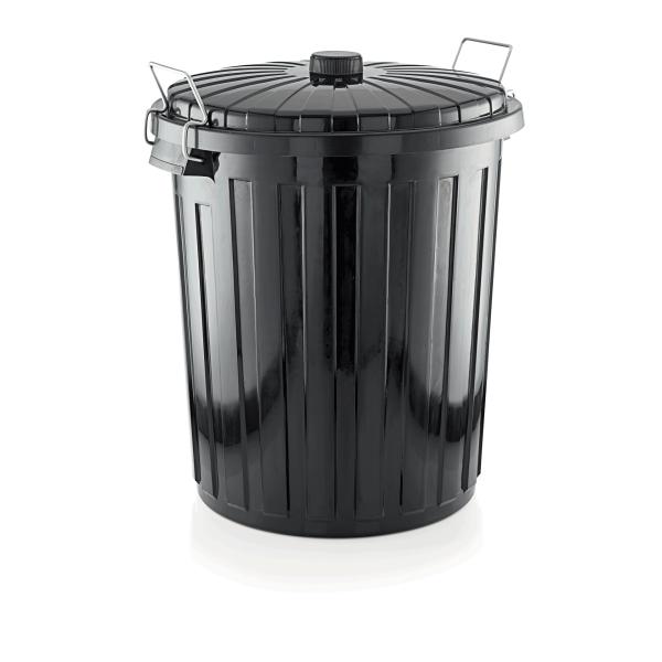 Abfallbehälter mit Deckel, 55 ltr., Polypropylen