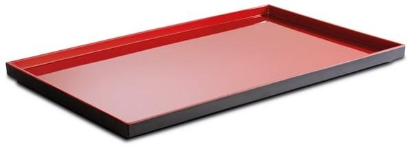 """Melamin Tablett, Serie """"ASIA PLUS"""", rot/schwarz, eckig, verschiedene Gastonormgrößen wählbar"""