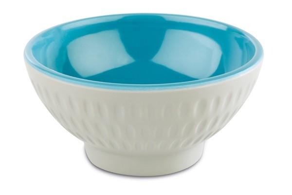 """Melamin Schale, Serie """"ASIA PLUS"""", taupe/blau, rund, Größen von 7,5-32,5 cm Ø wählbar"""
